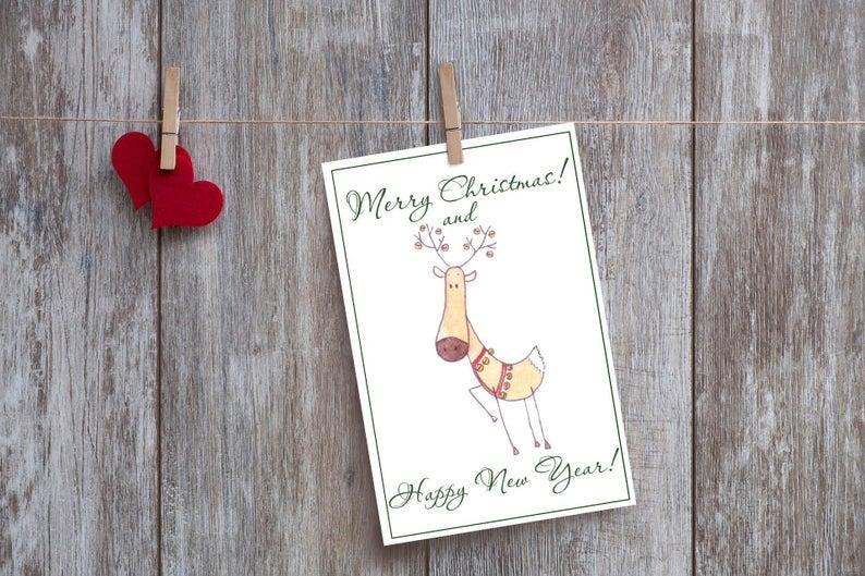 Cartão de Natal imprimível